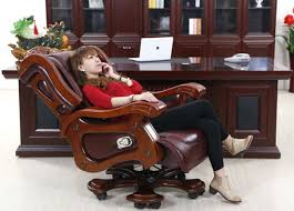 leather reclining office chair leather recliner office chair relax