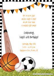 sports invitation template free printable sports birthday party