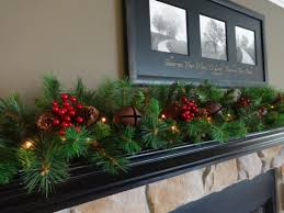 Christmas Banister Garland Ideas Christmas Fireplace Mantel 014 Decoration Mantels For Beautiful