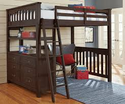Wooden Loft Bed With Desk Underneath Save Space With Queen Size Loft Bed With Desk U2013 Home Improvement 2017