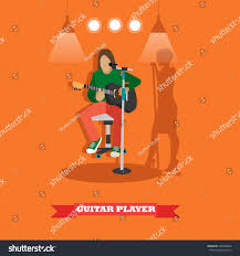 country song guitarist playing guitar music stock vector 478394866