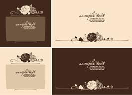 set of beautiful wedding cards design vector free vector in