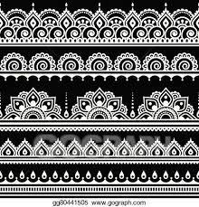 vector art mehndi indian henna tattoo pattern eps clipart