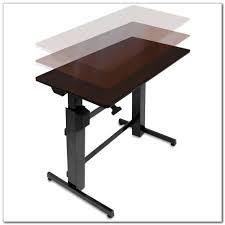 Jesper Sit Stand Desk by Workfit D Sit Stand Desk Light Grey Decorative Desk Decoration