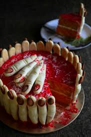 how to make spooky finger cake halloween spooky cake video