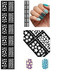 buy jinny international mixed nail art manicure stencil stickers