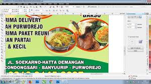 cara membuat brosur makanan cara membuat brosur simple dan cepat dengan coreldraw x4 youtube