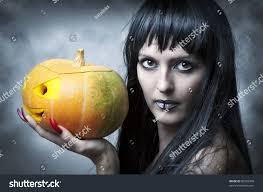 halloween makeup woman witch long stock photo 86565958