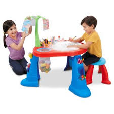 fisher price step 2 art desk crayola sit n draw travel table walmart com