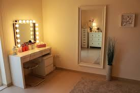 bedroom surprising vanity table with mirror and lights gorgeous