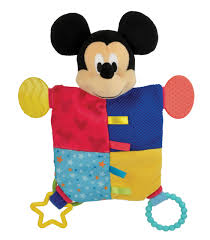 amazon disney baby mickey mouse activity toy plush animal
