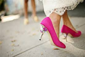 wedding shoes pink go with pink wedding shoes and trust us they ll a serious