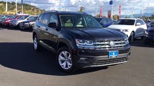 black volkswagen atlas 2018 vw atlas se 4motion deep black pearl youtube