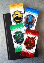 free printable harry potter hogwarts house bookmarks artsy