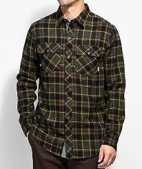 Flannel Shirts Dravus Jubal Forest Black Gold Flannel Shirt Zumiez