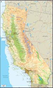 california map physical map of california ezilon maps