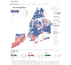 Election Interactive Map by New York City Mayor 2013 Election Results The Interactive News