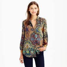 j crew blouses j crew paisley 100 silk tops blouses for ebay