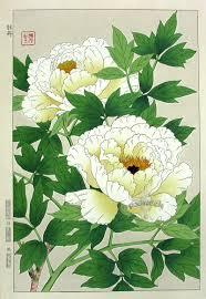 Japanese Flower Artwork - tanigami konan shin hanga woodblock prints 1917 japanese