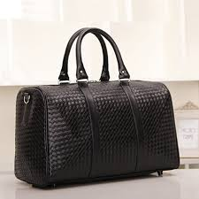 Womens Travel Bags images New fashion pu faux leather knitted men travel bag luggage bag jpg