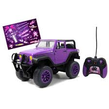 pink toy jeep jada toys just girls big foot remote control jeep