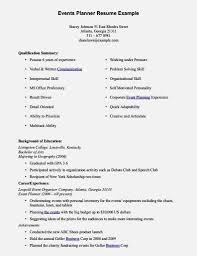 Event Planner Sample Resume Geographer Cover Letters