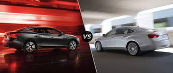 nissan maxima 2017 2017 nissan maxima vs 2017 chevy impala