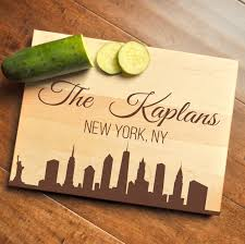 wedding gift nyc new york cutting board personalized cutting board engraved