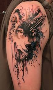 watercolor tattoos for men watercolour tattoos wolf and tattoo