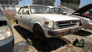 toyota corolla 1977 model junkyard find 1977 toyota corolla two door sedan