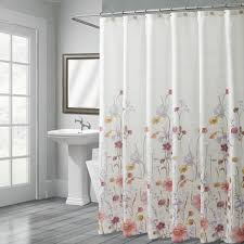 Plum Flower Curtains Pressed Flowers Shower Curtain Croscill Floral Watercolor