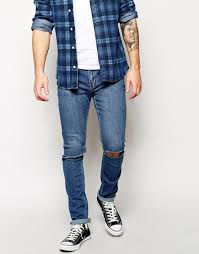 Mens Destroyed Skinny Jeans Mens Ripped Knee Jeans Bbg Clothing