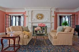 Living Rooms With Area Rugs Coral Reef Designs Fashion Boston Traditional Living Room Image