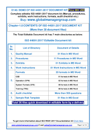 iso 44001 documents manual procedures