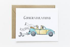 just married cards congratulations just married card lydia pugs