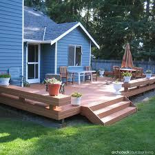 Cheap Backyard Deck Ideas Outdoor Deck Ideas Meedee Designs