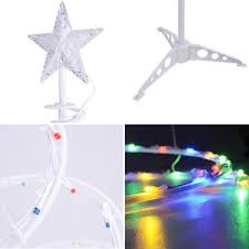 5 led clear spiral tree light decoration multi color