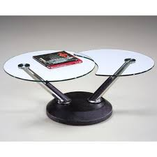 Metal And Glass Coffee Table Magnussen 38000 Modesto Metal And Glass Swivel Coffee Table