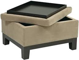 Leather Storage Ottoman With Tray Ottoman With Storage And Tray U2013 Techpotter Me