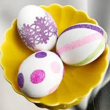 glitter easter eggs diy glitter easter eggs