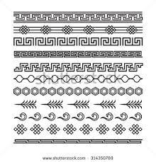 asian ornaments japanese korean vector stock vector