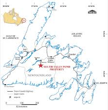 Southwest Canada Map by South Tally Pond Canadian Zinc Corporation