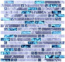 wholesale backsplash tile kitchen aliexpress com buy blue glass mosaic tile mixed grey mosaic