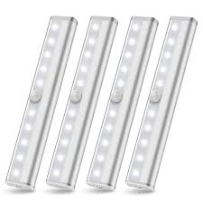 battery operated led lights for kitchen cabinets 4 packs wireless cabinet lighting battery powered led