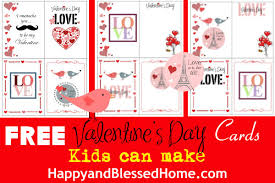 kids valentines cards free s day cards kids can make happy and blessed home