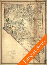 Map Of Las Vegas Nv Vintage Map Of Nevada Restoration Hardware Style 1894 Old Nevada
