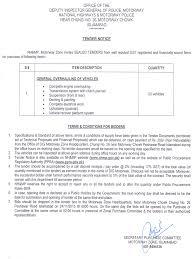 Upholstery Terms Tender For Repair Of Nh U0026mp Vehicles Motorway Zone Islamabad