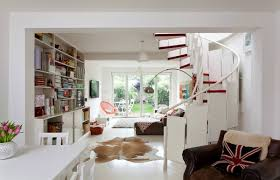 house in ravenscourt with red and white theme idesignarch