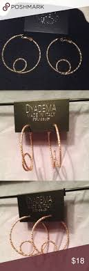 dyadema earrings dyadema italian gold sterling hoop earrings nwt and