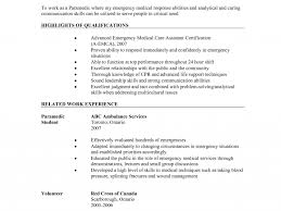 Paramedic Resume Examples by Beautiful Ideas Emt Resume Examples 10 Paramedic Command Post